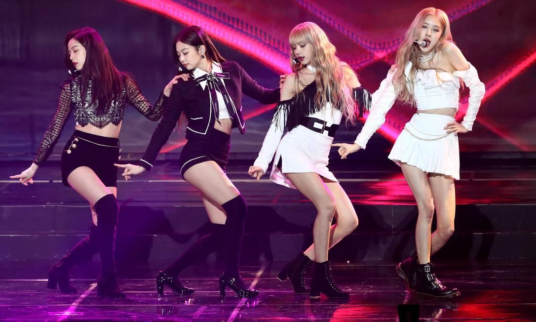 O grupo de de k-pop BlackPink se apresenta em Seul Foto: Chung Sung-Jun / Getty Images