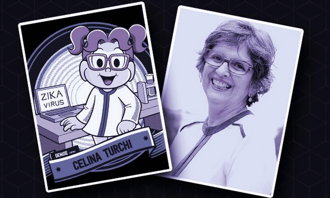 A cientista Celina Turchi, pioneira nas pesquisas sobre o vírus da zika, é homenageada pelo projeto 'Donas da Rua da História', da Mauricio de Sousa Produções. Nos quadrinhos, ela é a personagem Denise Foto: Divulgação