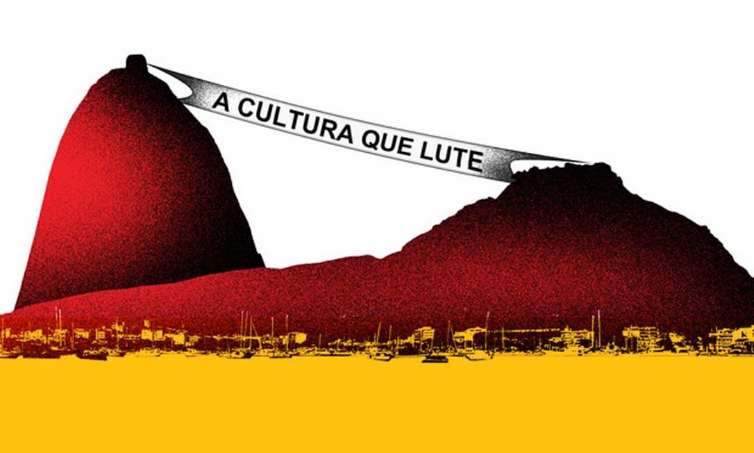 Para a cultura da cidade, medida é um tiro certeiro, pois o dinheiro do ISS é o único que há atualmente para o fomento às artes Foto: Arte de André Mello
