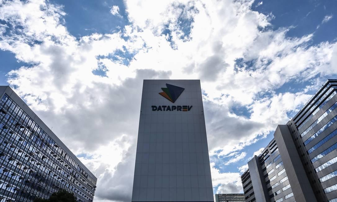 Fachada da Empresa de Tecnologia e Informações da Previdência (Dataprev), em Brasília Foto: André Coelho / Agência O Globo
