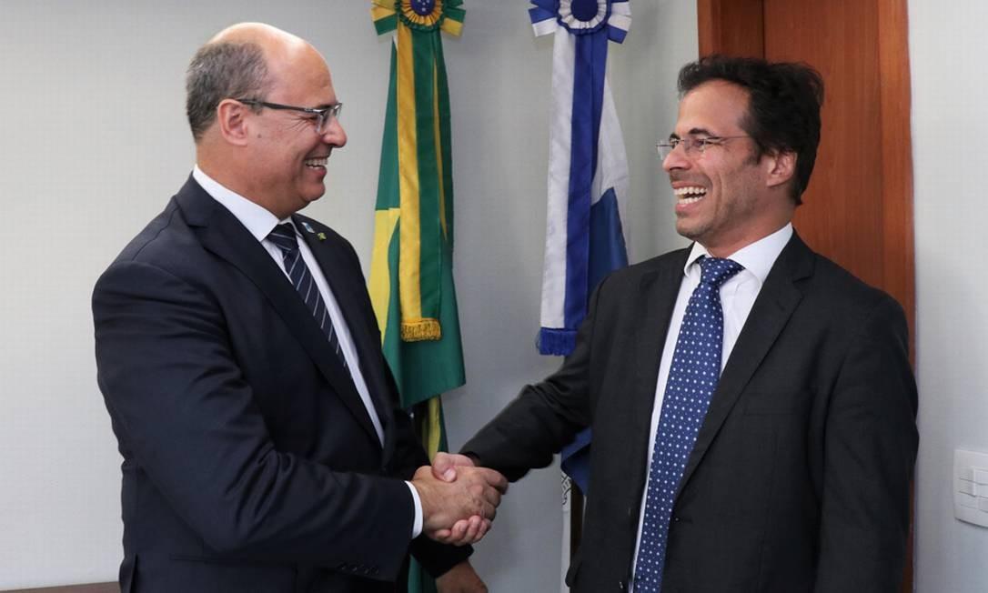 Governador Wilson Witzel e o então Procurador-Geral do Estado, Marcelo Lopes Foto: Claunir Tavares/Divulgação PGE-RJ - 08.01.2019