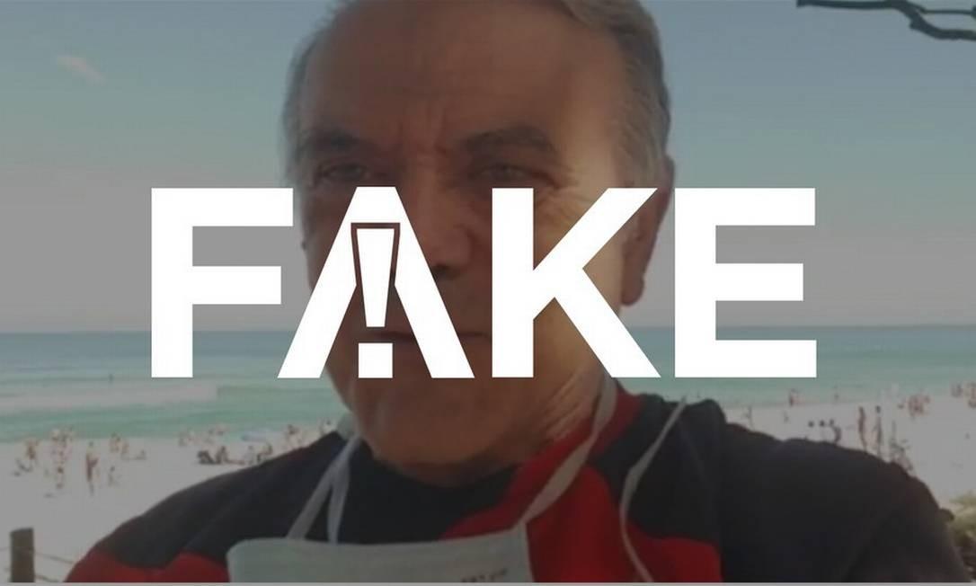 É #FAKE que uso de máscara de proteção faça mal à saúde tornando o sangue mais ácido Foto: Reprodução