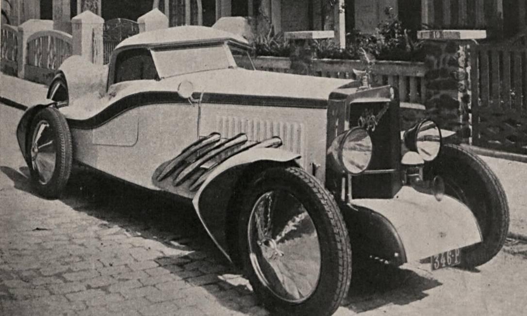 Alfa Romeo encarroçada por Joachim Küsters em Salvador, 1930 Foto: Reprodução