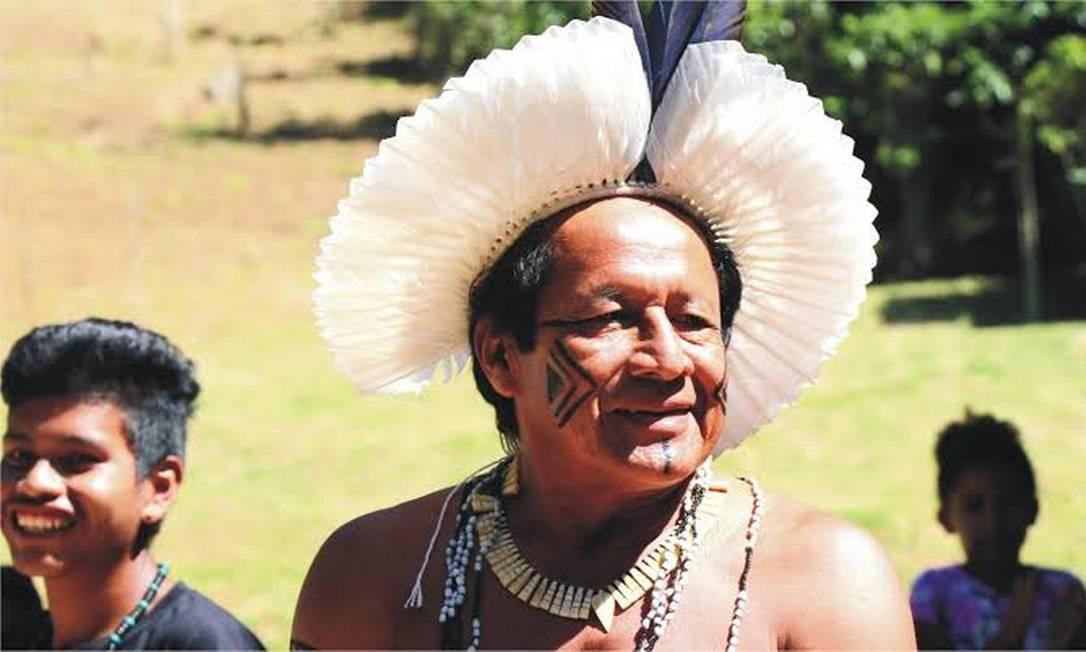 Cacique Domingos, líder indígena Guarani Myba em Angra dos Reis Foto: Divulgação / Parque Arqueológico e Ambiental de São João Marcos