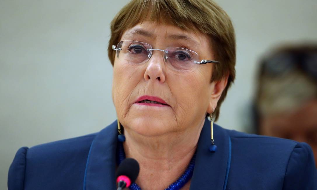 Alta comissária das Nações Unidas para os Direitos Humanos, Michelle Bachelet Foto: DENIS BALIBOUSE / Reuters
