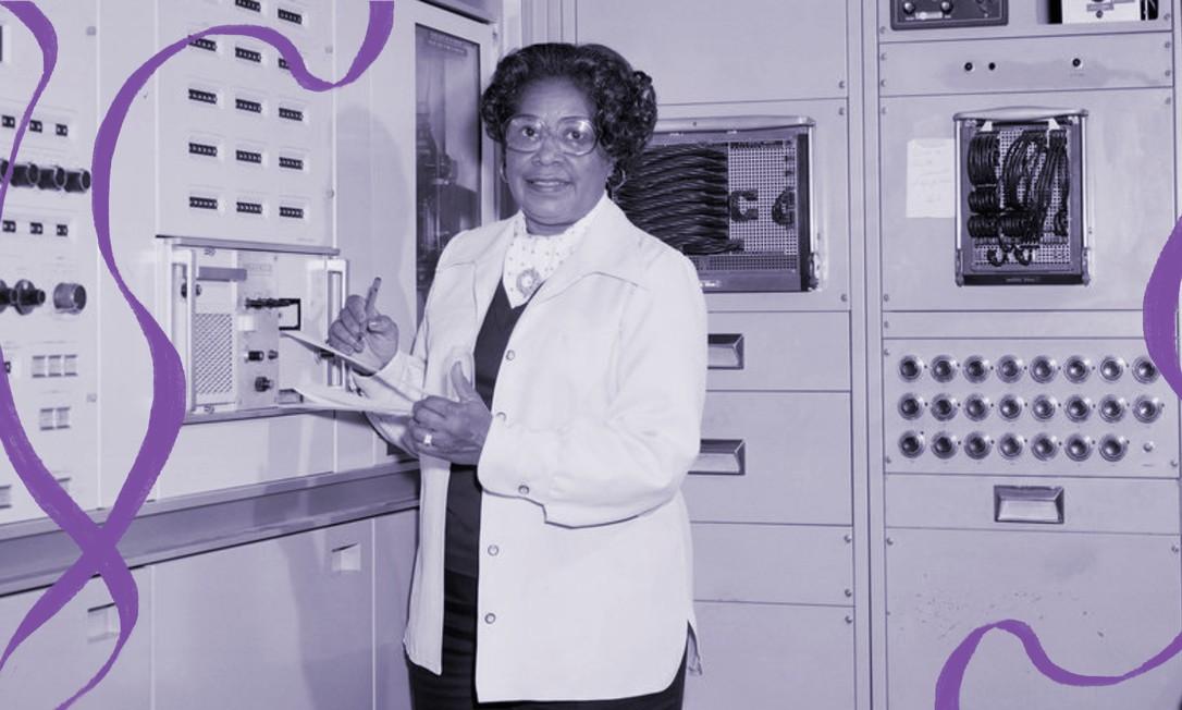 Mary W. Jackson no Centro de Pesquisa Langley da NASA. Ela se aposentou do centro em 1985, após 34 anos de trabalho como engenheira aeronáutica Foto: Centro de Pesquisa Langley da NASA