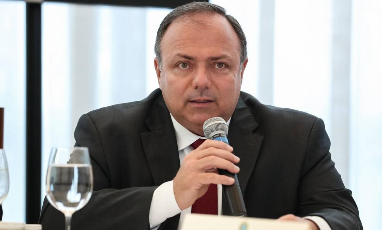 General Eduardo Pazuello, ministro da Saúde Foto: Marcos Corrêa / PR