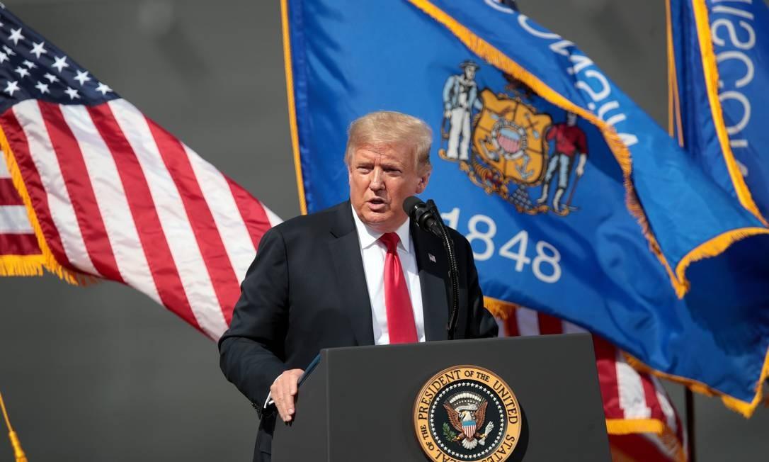 Donald Trump, presidente dos EUA Foto: Scott Olson / AFP