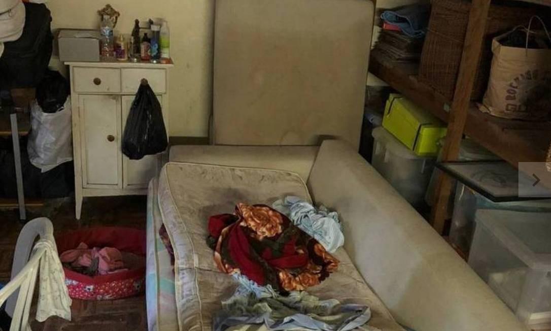 Depósito da casa em Alto de Pinheiros, onde idosa foi rsgatada em situa??o análoga à escravid?o Foto: Divulga??o/ Polícia