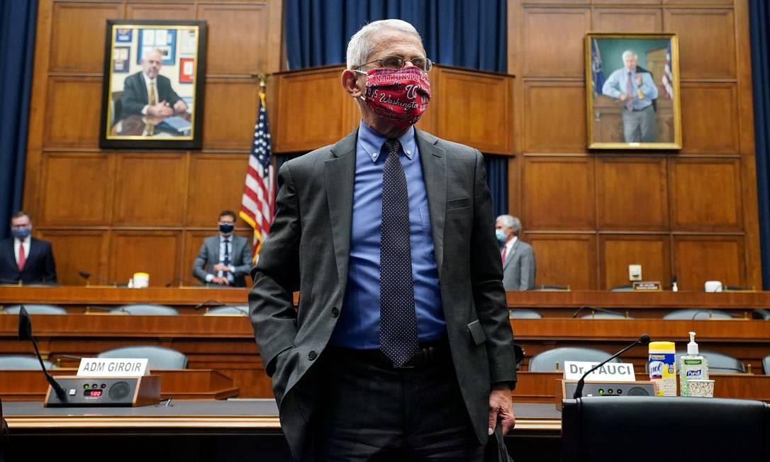Anthony Fauci é o direitor do Instituto Nacional de Alergias e Doenças Infecciosas dos Estados Unidos Foto: POOL / REUTERS