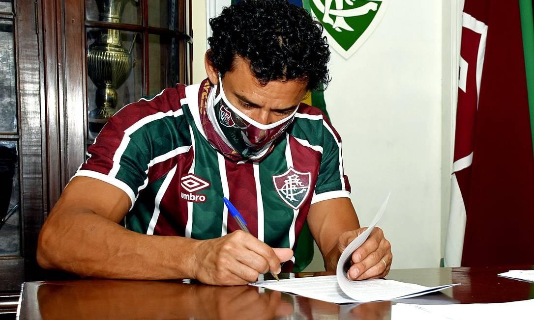 Contrato assinado entre Fred e Fluminense possui cláusulas variáveis que fazem rendimento crescer Foto: Mailson Santana/Fluminense FC / Mailson Santana/Fluminense FC