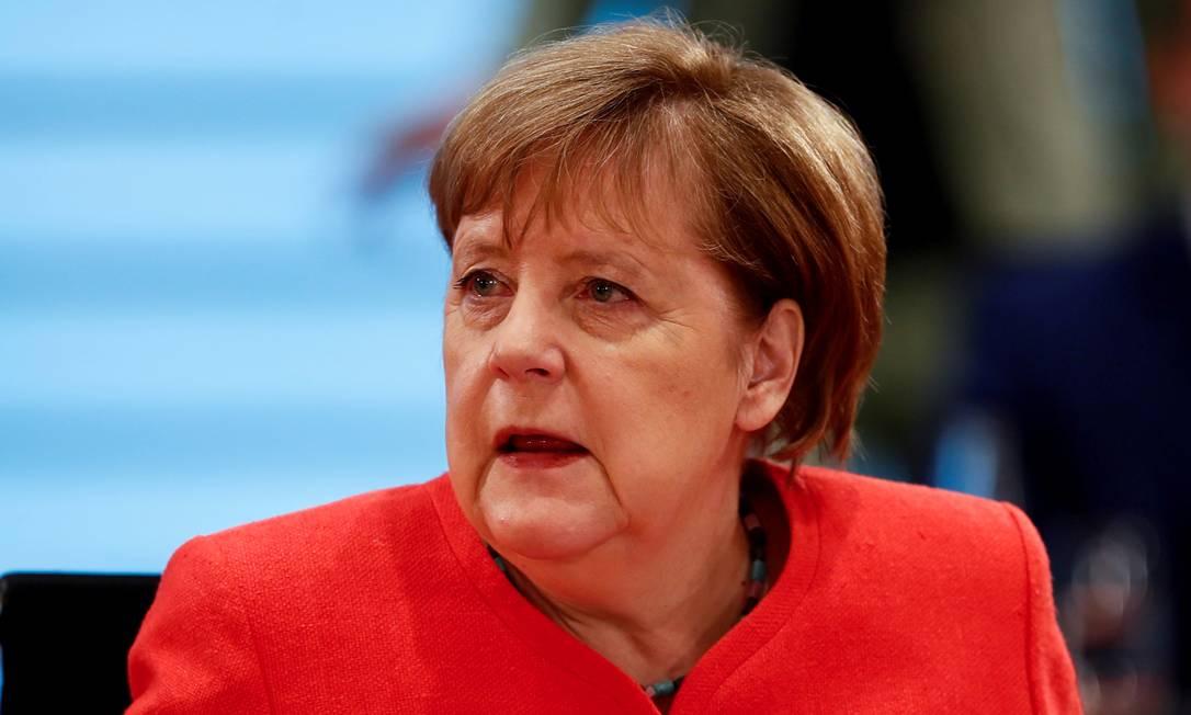A chanceler alemã, Angela Merkel Foto: Hannibal Hanschke / REUTERS/24-06-2020