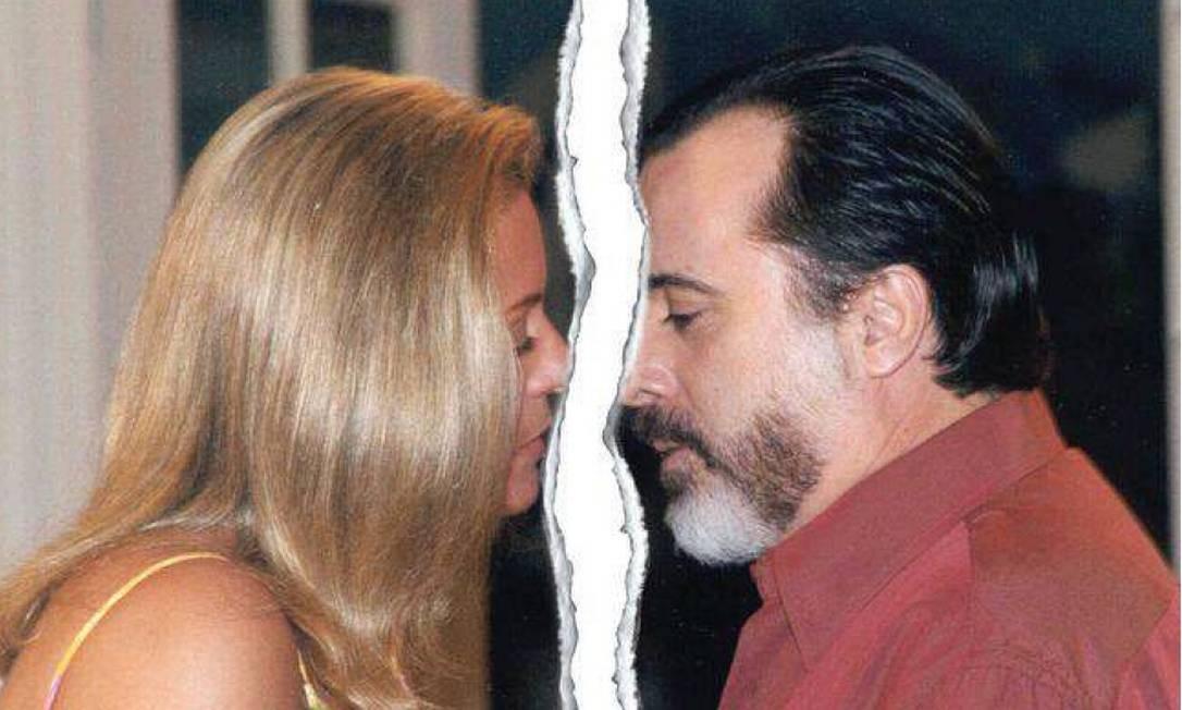 Coisa do passado: Miguel (Tony Ramos) e Helena (Vera Fischer) prestes a se beijarem na novela 'Laços de família', de 2000 Foto: Reprodução