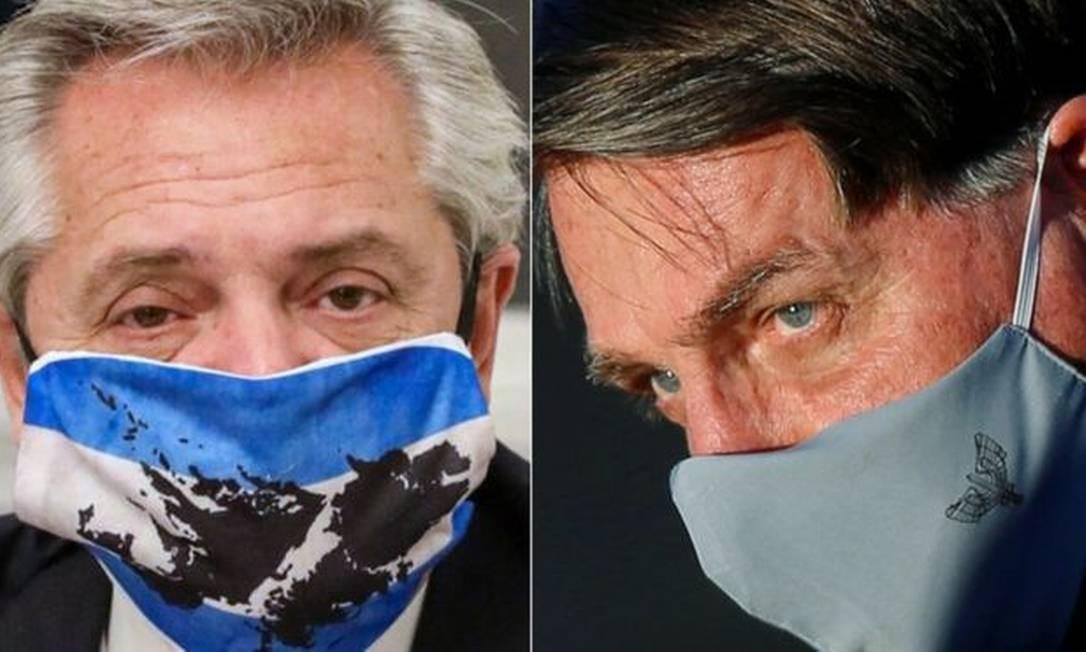Os presidentes do Brasil (dir.) e da Argentina (esq.) vivem em clima de hostilidade aberta Foto: AFP