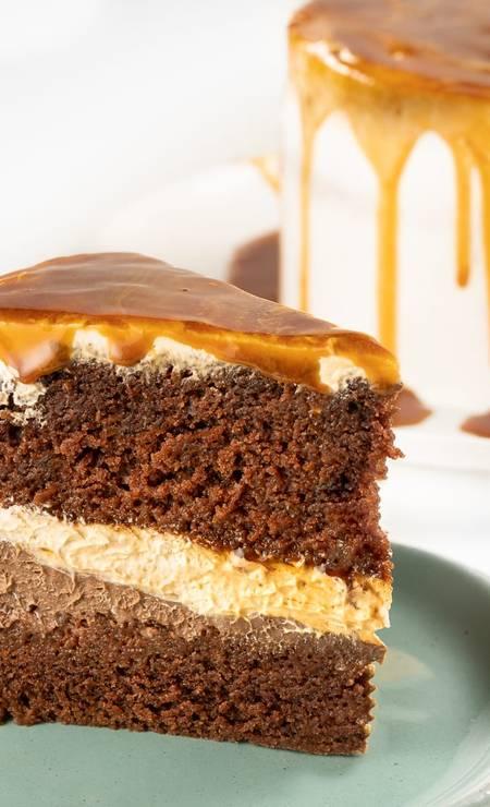 Doce Vegana. Festival de bolos tem sabores diversos, como o de caramelo, e é anunciado pelas redes sociais Foto: Renan Blaute / Divulgação