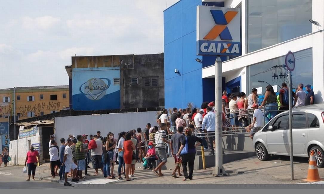 Caixa: pagamento de PIS/Pasep. Foto: Edilson Dantas / Agência O Globo