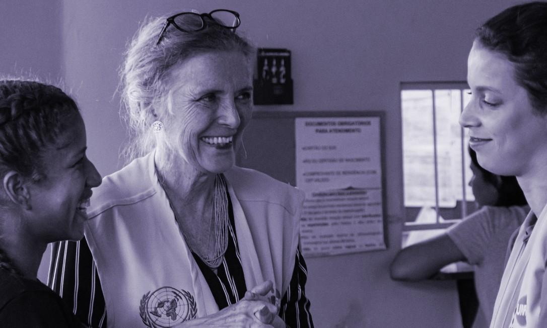 Ao centro, Astrid Bant, representante do Fundo de Populaçãoda ONU no Brasil Foto: Divulgação/UNFPA Brasil