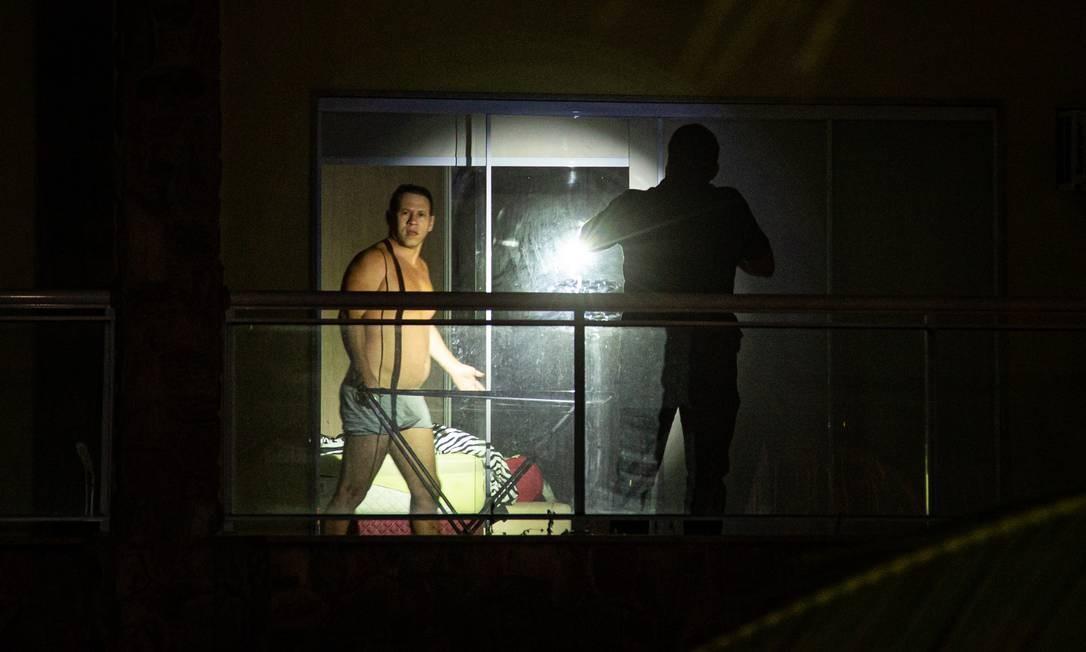 Leonardo Gouvea da Silva , o Mad, foi surpreendido pela polícia na madrugada desta terça-feira Foto: Hermes de Paula / Agência O Globo