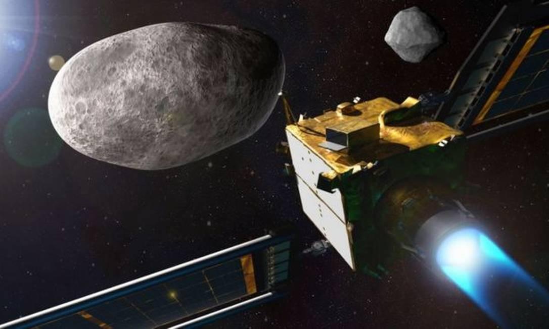 A nave DART tem a missão de se chocar contra o asteroide Dimorphos Foto: NASA/JOHNS HOPKINS APL