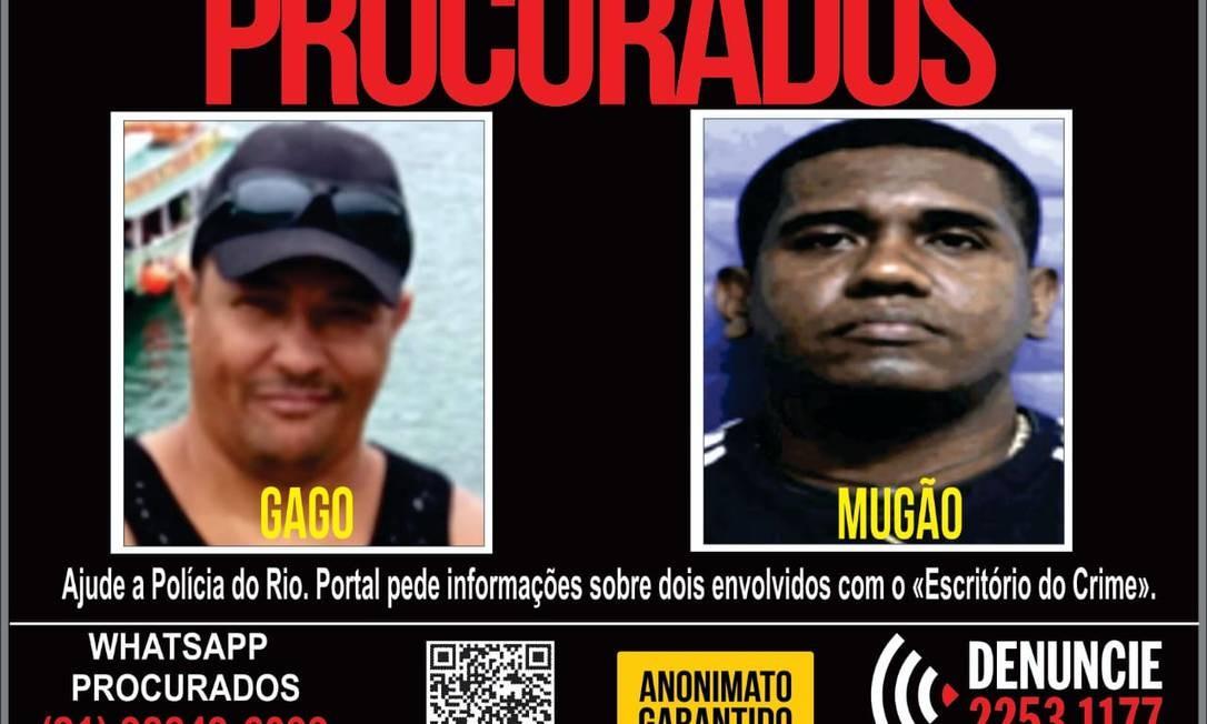Cartaz divulgado nesta terça-feira pela Polícia Civil Foto: Divulgação