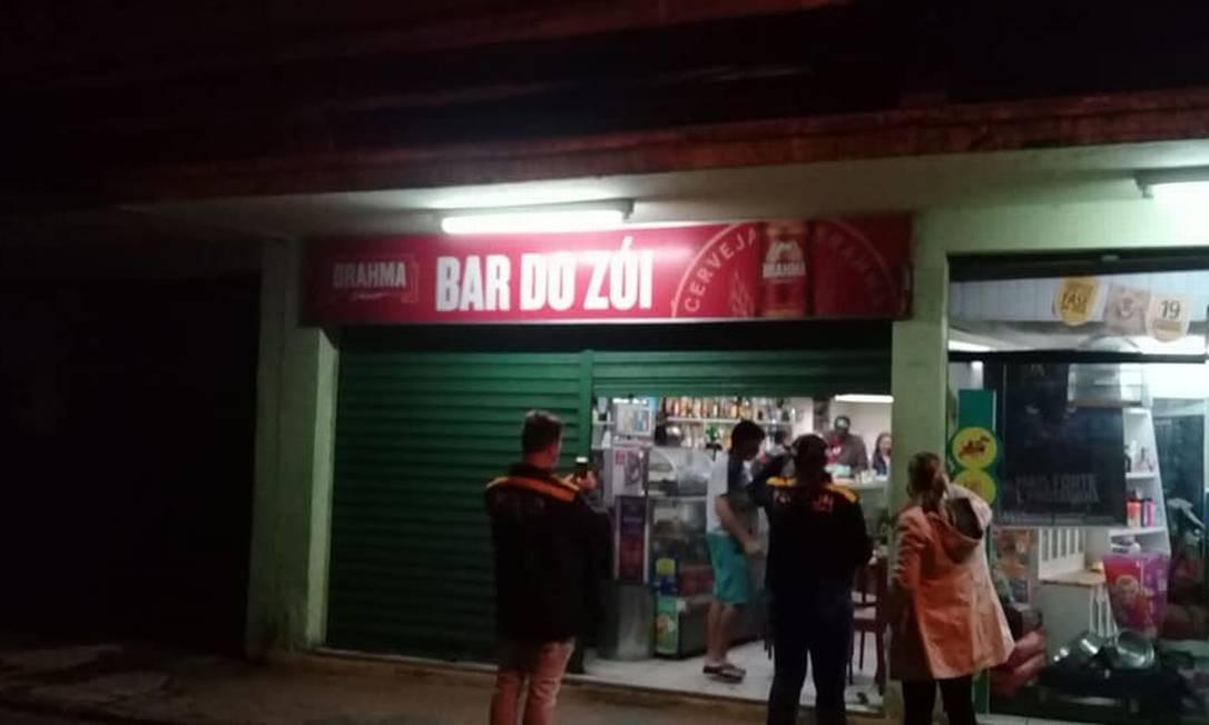 Bar e pet shop funcionavam lado a lado Foto: Divulgação/Prefeitura de Petrópolis