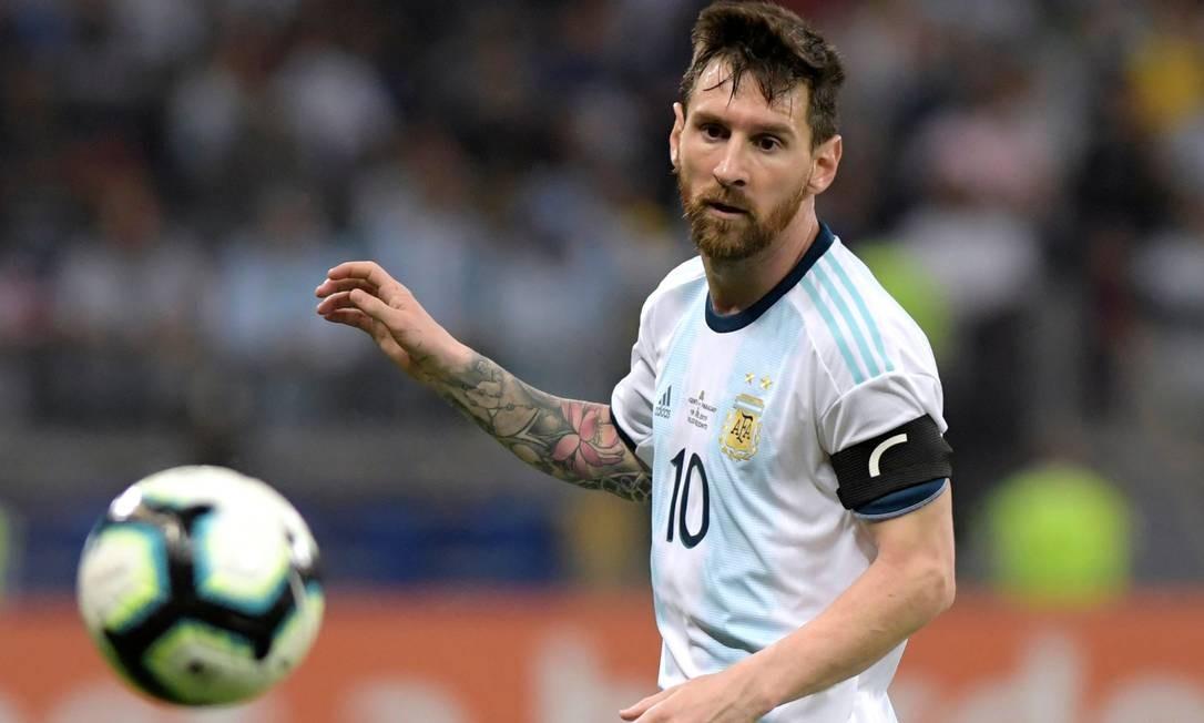 Messi, durante partida da Copa América em 2019, no Estádio Mineirão, Belo Horizonte Foto: WASHINGTON ALVES / Reuters