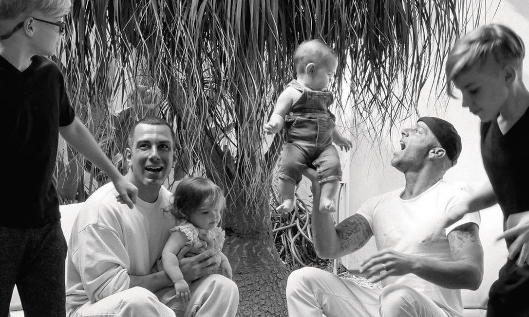 Ricky Martin com marido e filhos Foto: Reprodução/Instagram