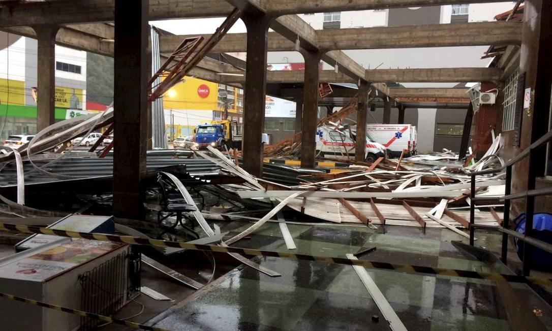 Passagem do ciclone bomba por Concórdia. Foto: Prefeitura de Concórdia / Divulgação