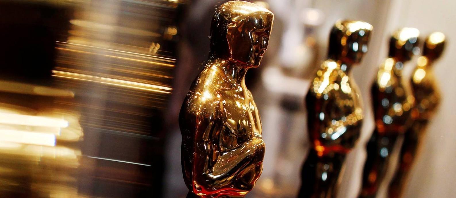 Estatuetas do Oscar: Academia fez convidou 819 profissionais do cinema a se filiarem, entre eles cinco brasileiros Foto: Shannon Stapleton / REUTERS