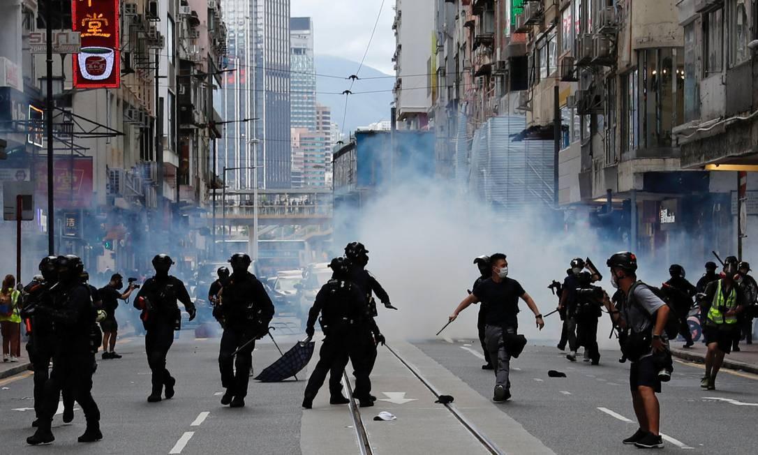 Nesta quarta, celebra-se o 23º aniversário da transferência de Hong Kong do Reino Unido para a China Foto: Tyrone Siu / REUTERS