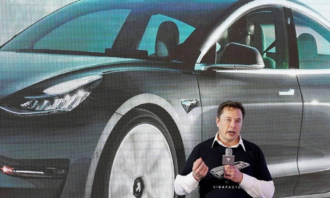 Elon Musk, fundador e diretor executivo da Tesla: ações se valorizaram 3,5% e chegaram ao novo valor de mercado. Foto: Aly Song / REUTERS