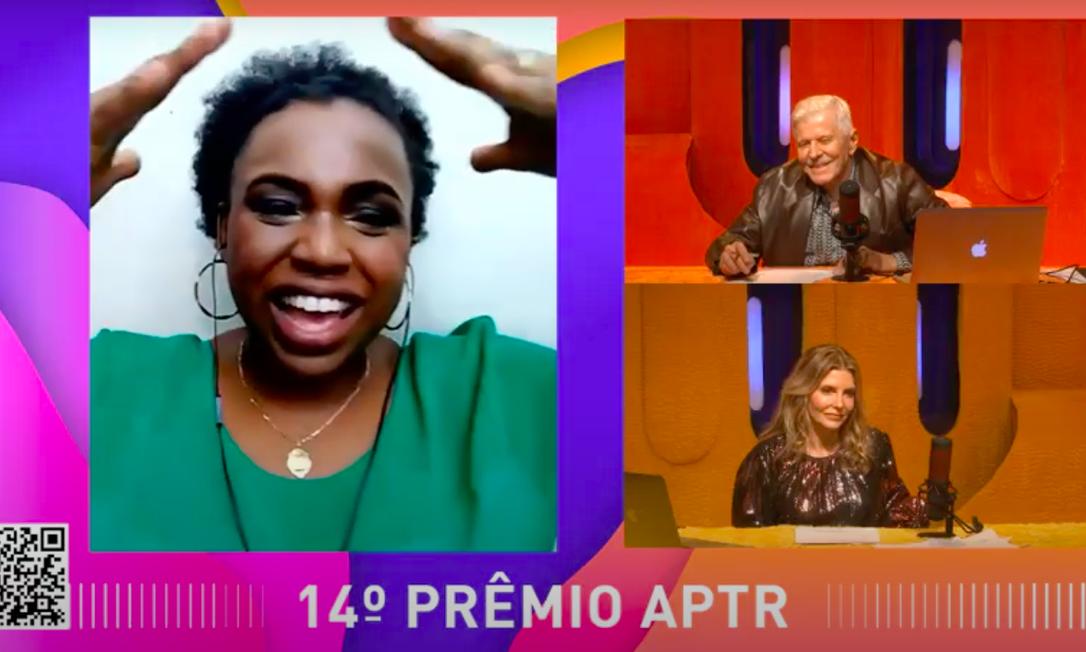 A atriz Letícia Soares, que garantiu um dos troféus de 'A cor púrpura, o musical' no Prêmio APTR Foto: Reprodução