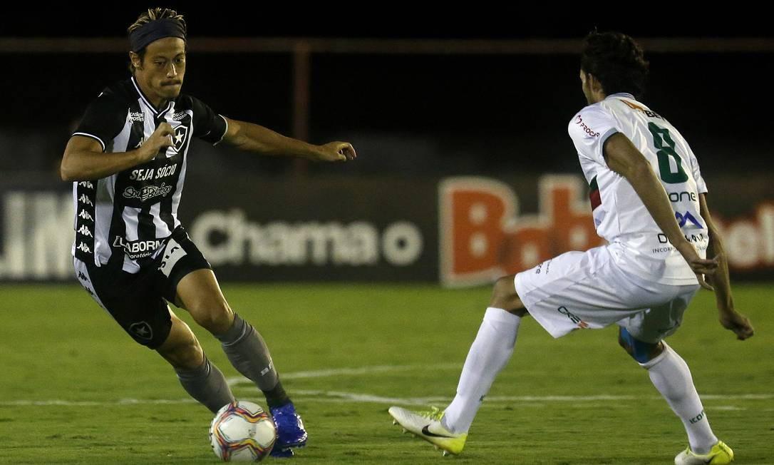 Honda, do Botafogo, no jogo diante da Portuguesa Foto: Vitor_Silva / Vitor Silva/Botafogo