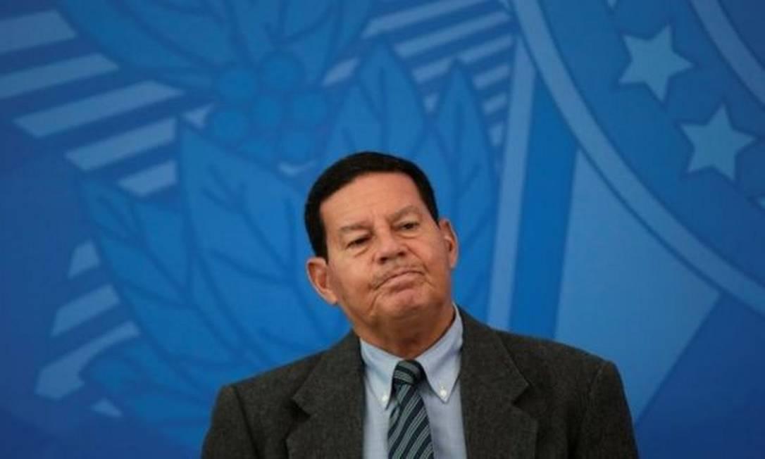 Mourão disse que a prorrogação da operação das Forças Armadas na Amazônia vai precisar de mais recursos Foto: REUTERS