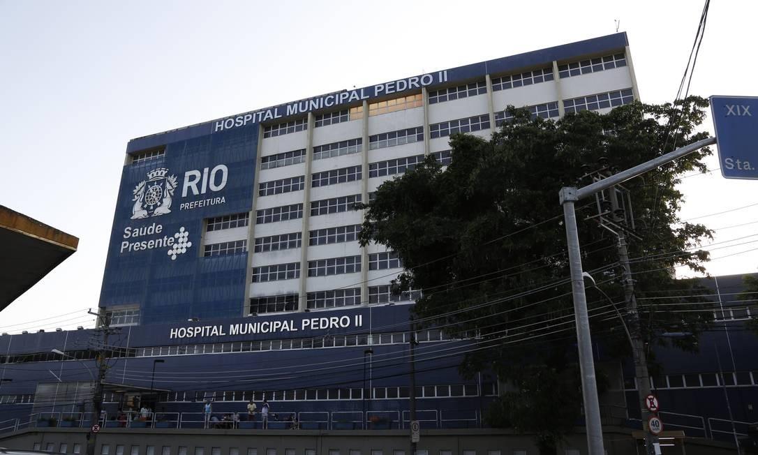Hospital Pedro II, em Santa Cruz: unidade já desativou 20 dos leitos voltados a pacientes com coronavírus Foto: Fábio Rossi em 28-12-2019 / Agência O Globo