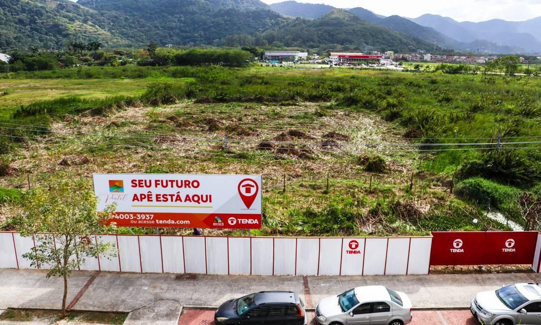 Terreno no Pontal Oceânico que deverá receber residencial do Minha Casa Minha Vida Foto: Pietro Palmieri / Divulgação/Pietro Palmieri
