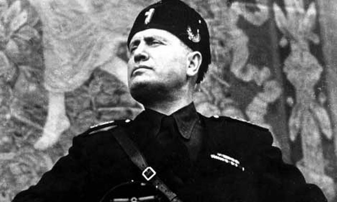 Benito Mussolini Foto: Reprodução