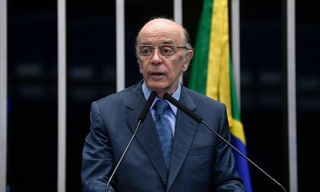 O senador e ex-governador José Serra, alvo de operação da Polícia Federal Foto: PEDRO FRANÇA/AGÊNCIA SENADO