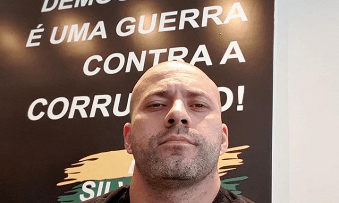 O deputado Daniel Silveira Foto: Reprodução/Redes sociais