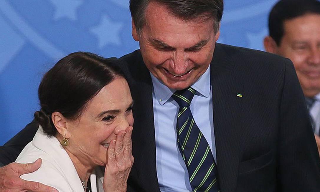 Regina Duarte, ex-secretária de Cultura do governo Bolsonaro Foto: Antonio Cruz/Agência Brasil
