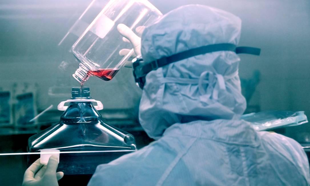 Produção de vacinas em Bio-Manguinhos, unidade da Fiocruz que fabricará o imunizante contra a Covid-19 Foto: Bernardo Portella / Divulgação