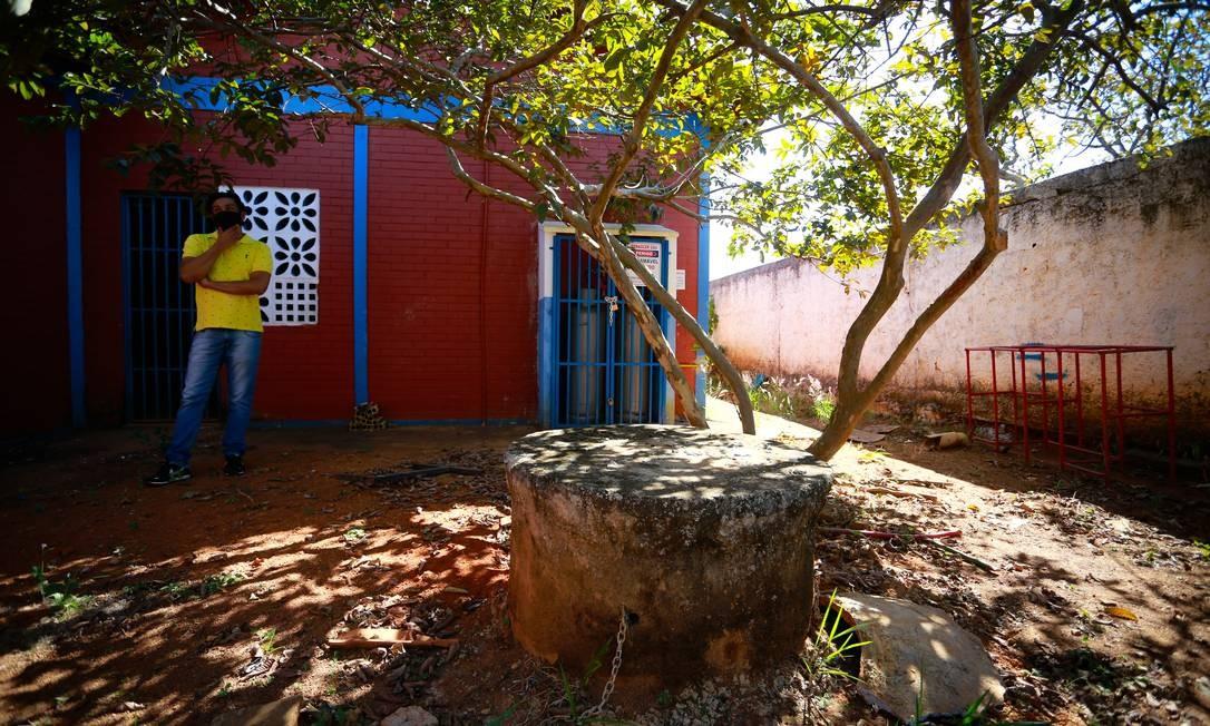 Escola Municipal Laudimiro Roriz, em Luziânia, Goiás, não tem água potável Foto: Pablo Jacob / Agência O Globo