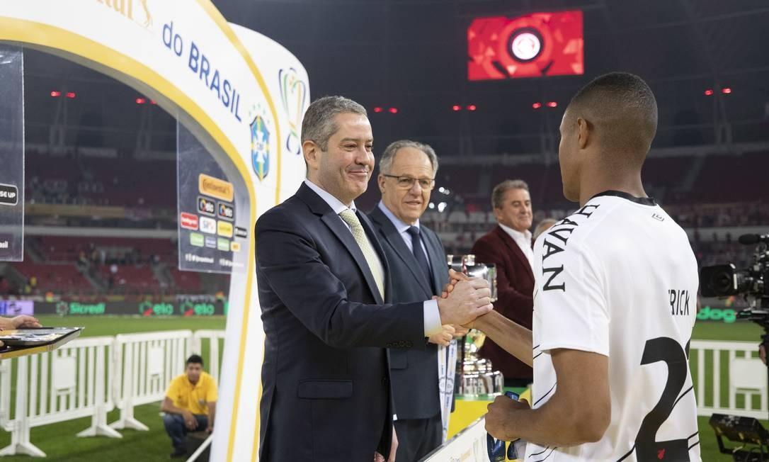 Rogério Caboclo, presidente da CBF, na cerimônia da Copa do Brasil 2019 Foto: Lucas Figueiredo/CBF