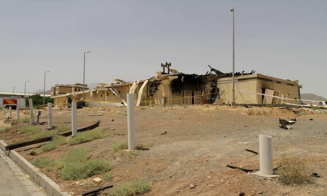 Prédio atingido por incêndio na instalação nuclear de Natanz, no Irã Foto: Wana News Agency / VIA REUTERS