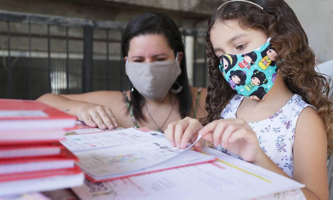 Mariana vai continuar fazendo as atividades em casa com a filha, Giovana Foto: Cléber Júnior / Agência O Globo