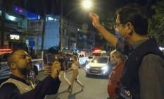Engenheiro gravou o superintendente de educação da Vigilância, Flávio Graça Foto: Reprodução / TV Globo / Agência O Globo