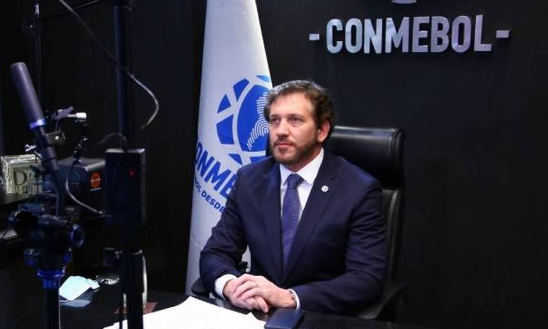 Alejandro Domínguez, presidente da Conmebol Foto: Divulgação/Conmebol