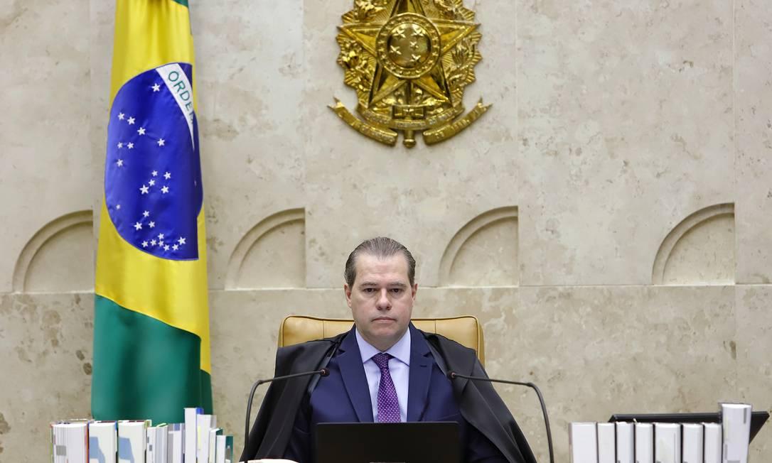 O presidente do Supremo Tribunal Federal (STF), ministro Dias Toffoli Foto: Agência O Globo