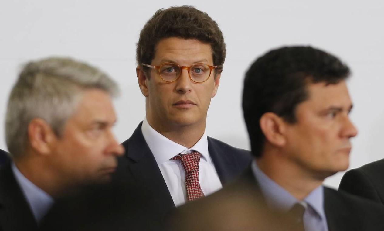 Salles integra o governo Bolsonaro como titular da pasta do Meio Ambiente desde o começo do mandato, em janeiro de 2019 Foto: Jorge William / Agência O Globo