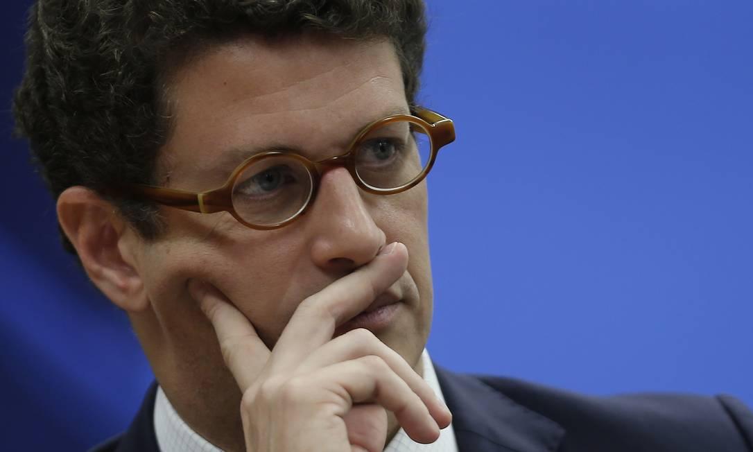 Ricardo Salles , ministro do Meio Ambiente Foto: Jorge William / Agência O Globo